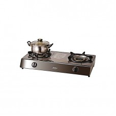 Binatone 2 Burner Stainless Steel Table Top Gas Cooker SSGC-0002