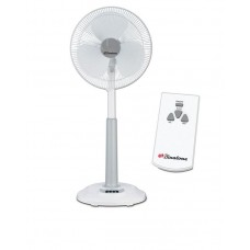 Binatone  Standing Rechargeable Fan 16 Inch with Remote Control - RSF-1602R - White/Grey